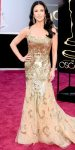 Catherine Zeta-Jones in a gold embellished Zuhair Murad gown with Lorraine Schwartz jewelry