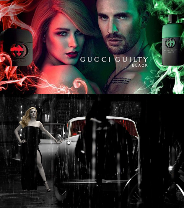 Evan Rachel Wood & Chris Evans for Gucci Guilty Black ...