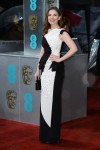 Hayley Atwell in a black & white Antonio Berardi gown