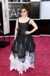 Helena Bonham Carter in a black gray & white Vivienne Westwood gown
