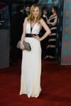 Juno Temple in a white & black Stella McCartney gown
