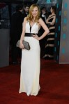 Juno Temple in a white & black Stella McCartney gown