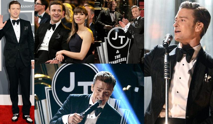 Justin Timberlake at the Grammys
