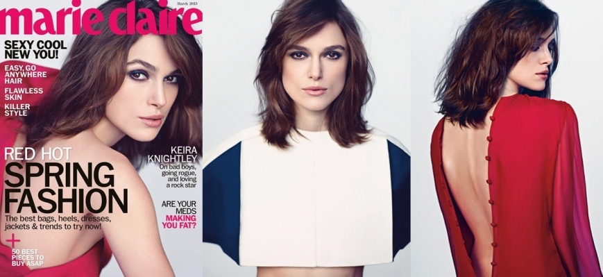 Keira Knightley for Marie Claire March 2013
