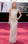Lara Spencer in a sparkling cream Kaufman Franco column gown