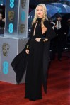 Laura Whitmore in a black open-front Alexandre Vauthier gown