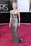 Naomi Watts in a metallic Armani Prive gown