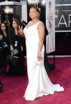 Octavia Spencer in a pastel Tadashi Shoji corseted gown