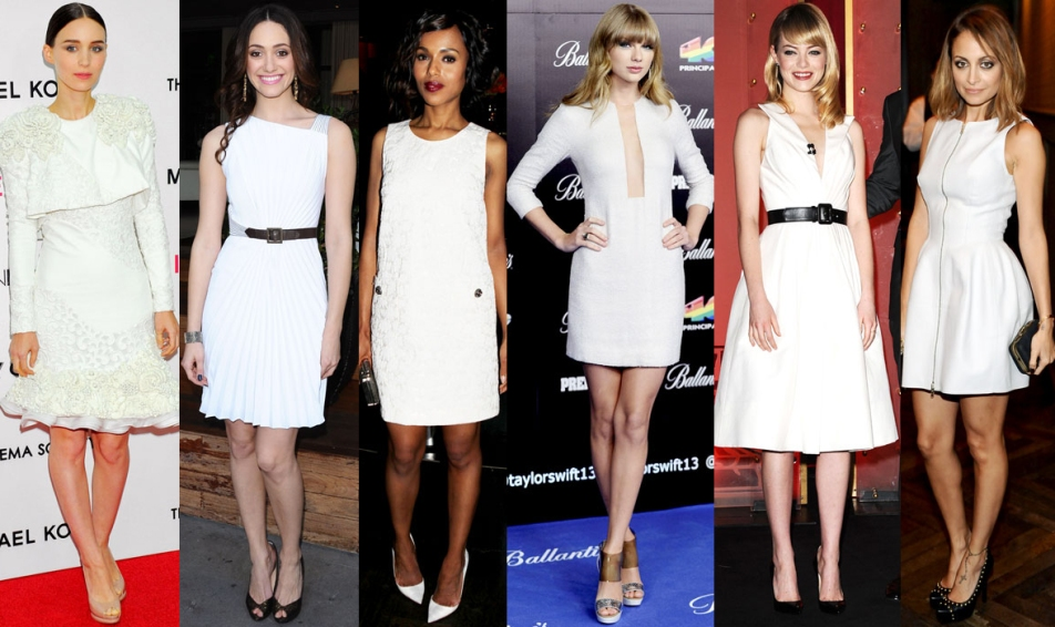 Rooney Mara, Emmy Rossum, Kerry Washington, Taylor Swift, Emma Stone, & Nicole Richie.