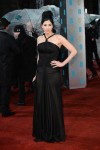 Sarah Silverman in a black Rafael Cennamo halter gown