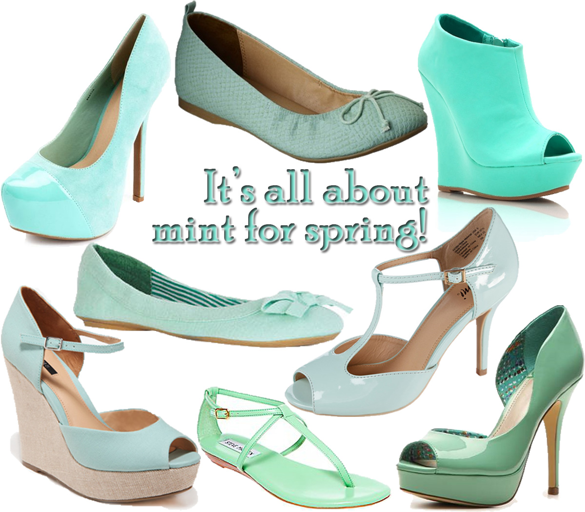 show me the shoes color me style mint is back for