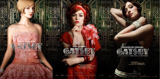 Carey Mulligan, Isla Fisher, & Elizabeth Debicki in The Great Gatsby.