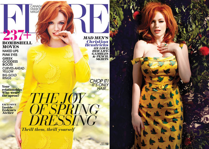 Christina Hendricks for Flare May 2013