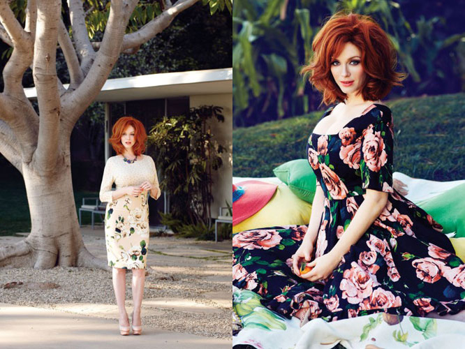 Christina Hendricks for Flare May 2013 02