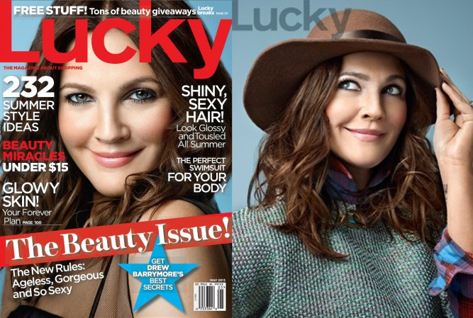 Drew Barrymore for Lucky May 2013