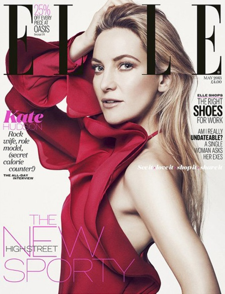 Kate Hudson for Elle UK May 2013
