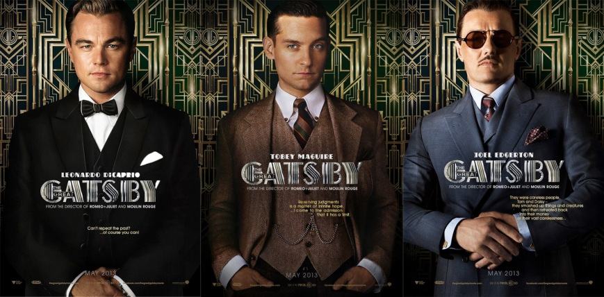 Leonard DiCaprio, Tobey Maguire, & Joel Edgerton in The Great Gatsby.