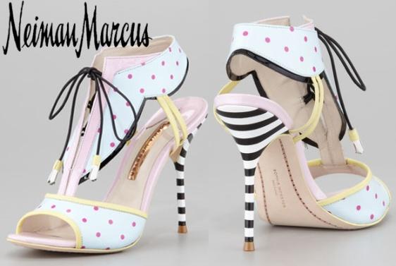 Neiman Marcus - Sophia Webster Leilou Polka-Dot T-Strap Sandal $595.00.