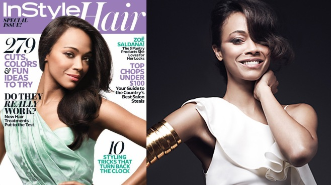 Zoe Saldana for InStyle Hair Spring 2013