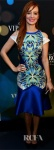 Ahna O'Reilly in a mirror printed multi color dress from Bibhu Mohapatra Spring 2013.