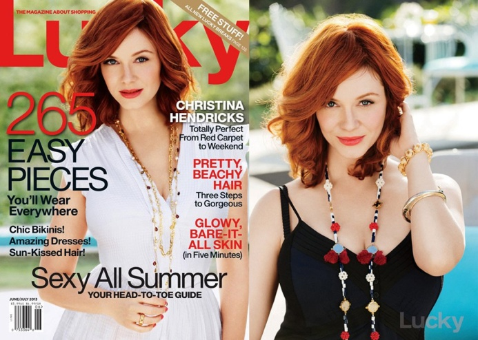Christina Hendricks for Lucky June 2013 01