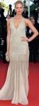 Erin Heatherton in a silver Roberto Cavalli deep-v gown.
