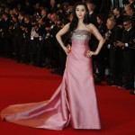 Fan Bingbing in a pink duchesse satin gown by Louis Vuitton.