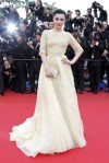 Fan Bingbing in a sparkling yellow Elie Saab Couture gown.