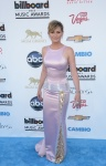 Jennifer Nettles in a blush & metallic accented gown by Edition by Georges Chakra.