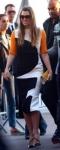 Jessica Biel in a colorblocked Roksanda Ilincic sheath dress.