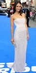 Jordana Brewster in a sparkling embellished Jenny Packham column dress.