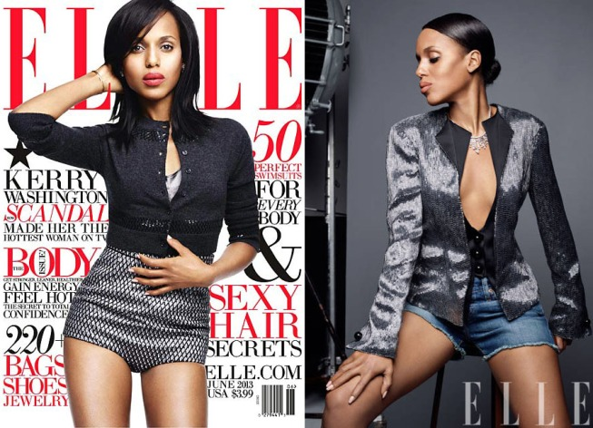 Kerry Washington For ELLE June 2013