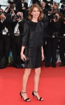 Sofia Coppola in a black sparkling Louis Vuitton dress