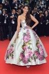 Sonam Kapoor in a floral Dolce & Gabbana ballgown.