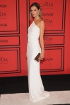 Alessandra Ambrosio in a white Kaufmanfranco column gown.
