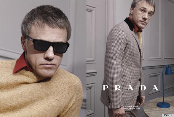 Christoph Waltz for Prada Fall 2013