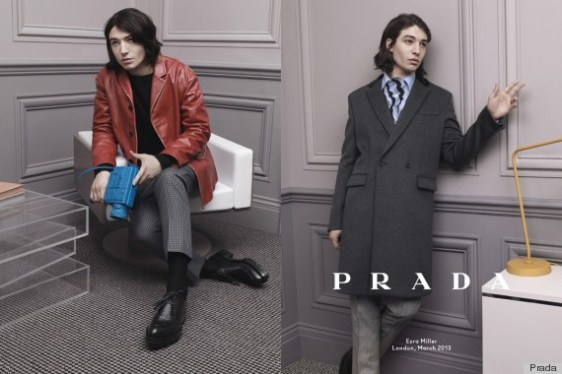 Ezra Miller for Prada Fall 2013