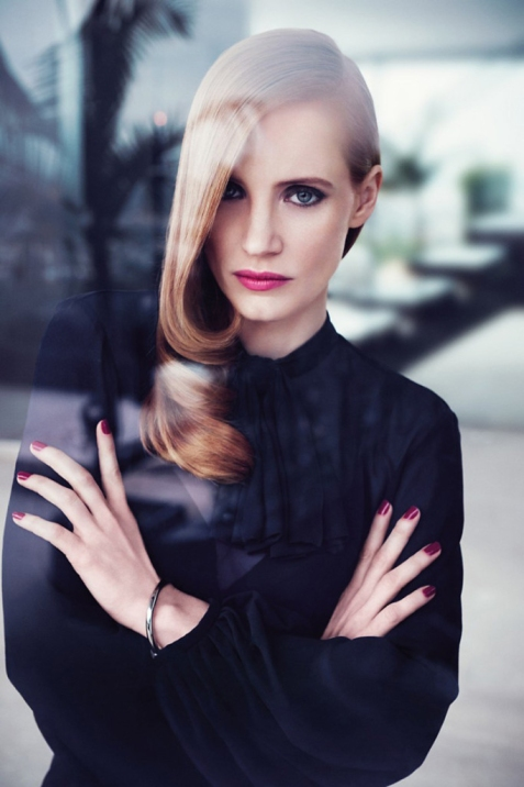 Jessica Chastain for Yves Saint Laurent Manifesto 01