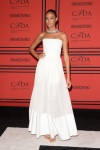 Joan Smalls in a white strapless Givenchy ballgown