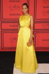 Kerry Washington in a yellow ballgown by Jason Wu