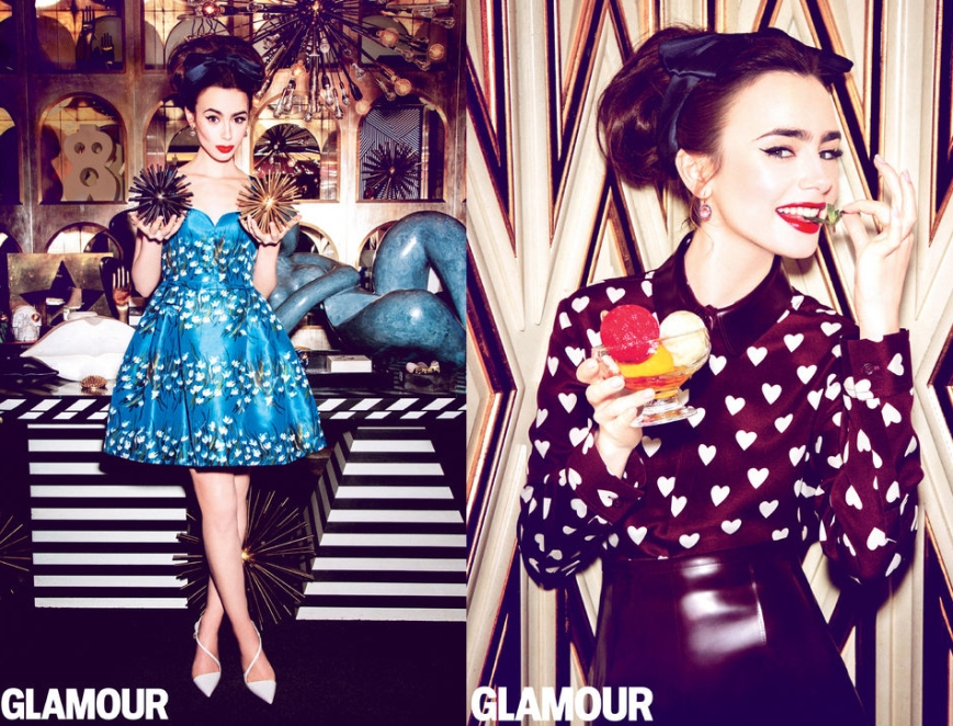 Lily Collins for Glamour July 2013 02