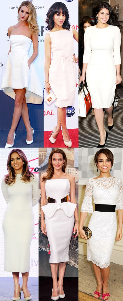 Rosie Huntington-Whiteley, Kerry Washington, Gemma Arterton, Jennifer Lopez, Angelina Jolie, & Samantha Barks.