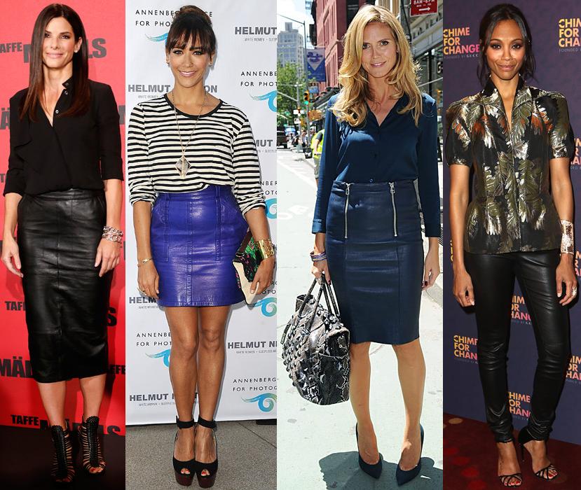 Sandra Bullock, Rashida Jones, Heidi Klum, & Zoe Saldana.