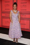 Tracy Reese with a purple floral print dress