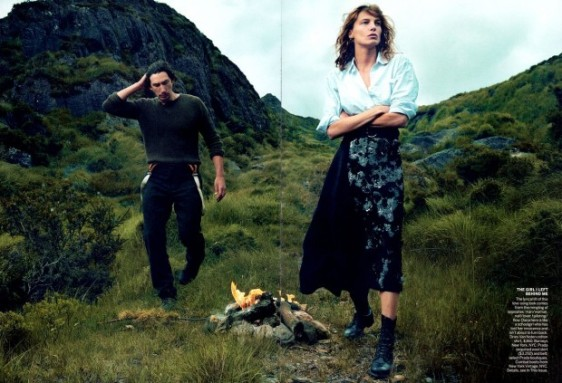 Adam Driver & Daria Werbowy for Vogue September 2013 07