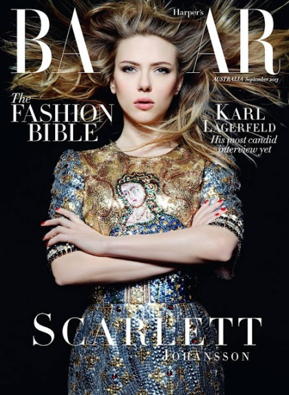 Scarlett Johansson for Harper's Bazaar Australia September 2013