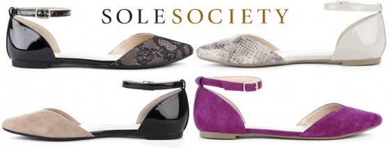 Sole Society - Hadley sweetheart flat $64.95