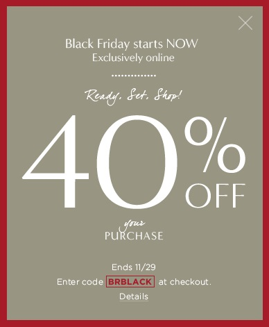 Banana Republic - 40% off online only with code BRBLACK.