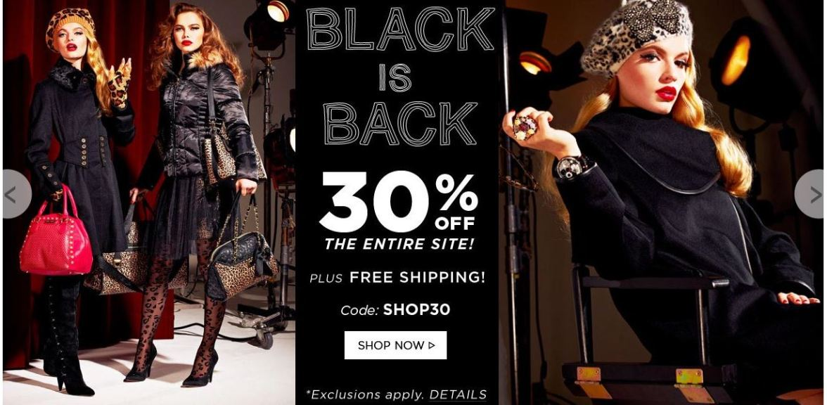 Betsey Johnson - 30% Off sitewide with code SHOP30.