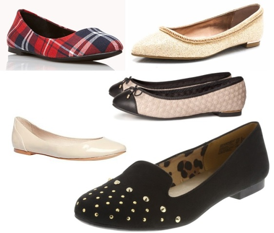 Forever 21 - plaid flats $16.80, GOjane - glitter flats $23.80, H&M quilted ballet flats $9.99, Steve Madden - patent KINGG flats $41.98, & Payless - Christian Siriano smoking flat $26.99.